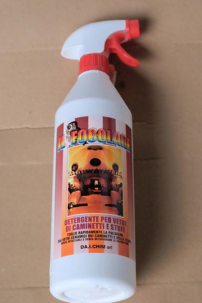 Detergente per vetri di caminetti e stufe