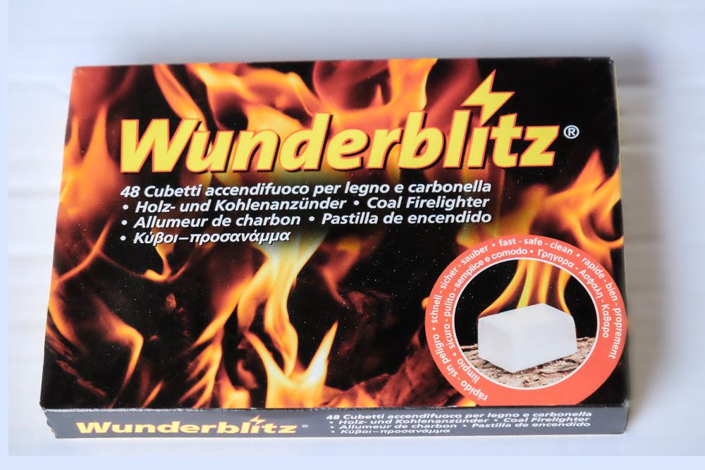 Tavolette accendifuoco Wunderblitz pratiche e di lunga durata.